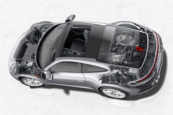 The new Porsche 911: Technology and Production Workshop